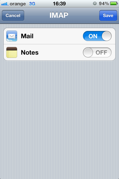 iPhone email account step 1